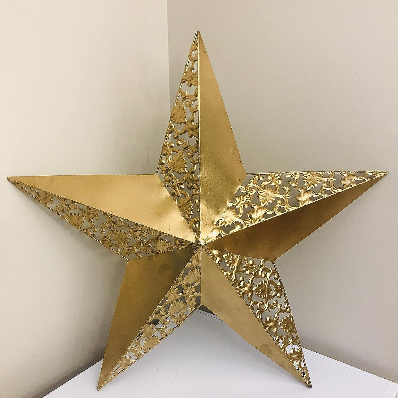 Amazon com big metal texas star gold decorative wall hanging