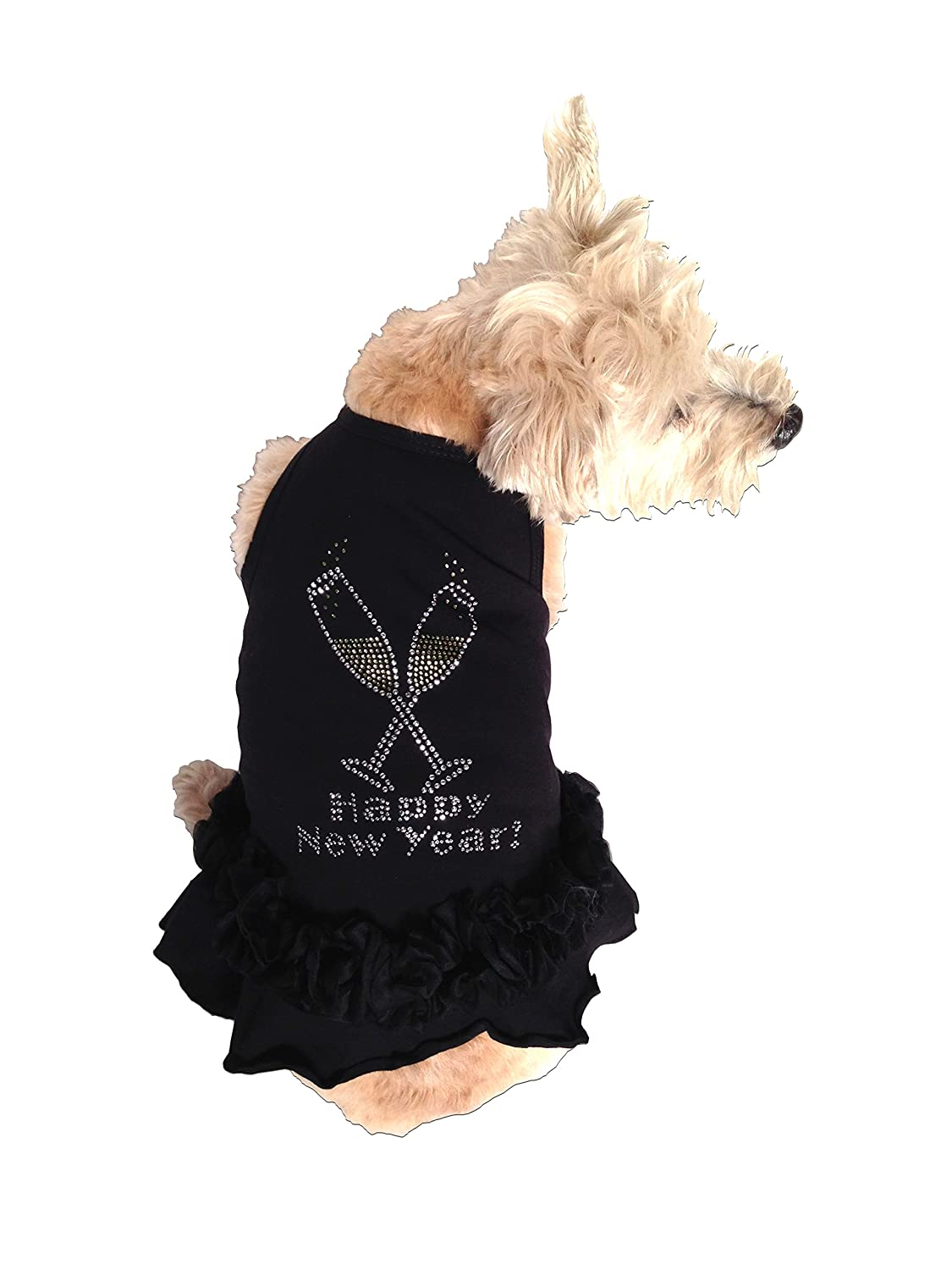 The Dog Squad Toast The New Year Tutu Dress for Dogs, Large