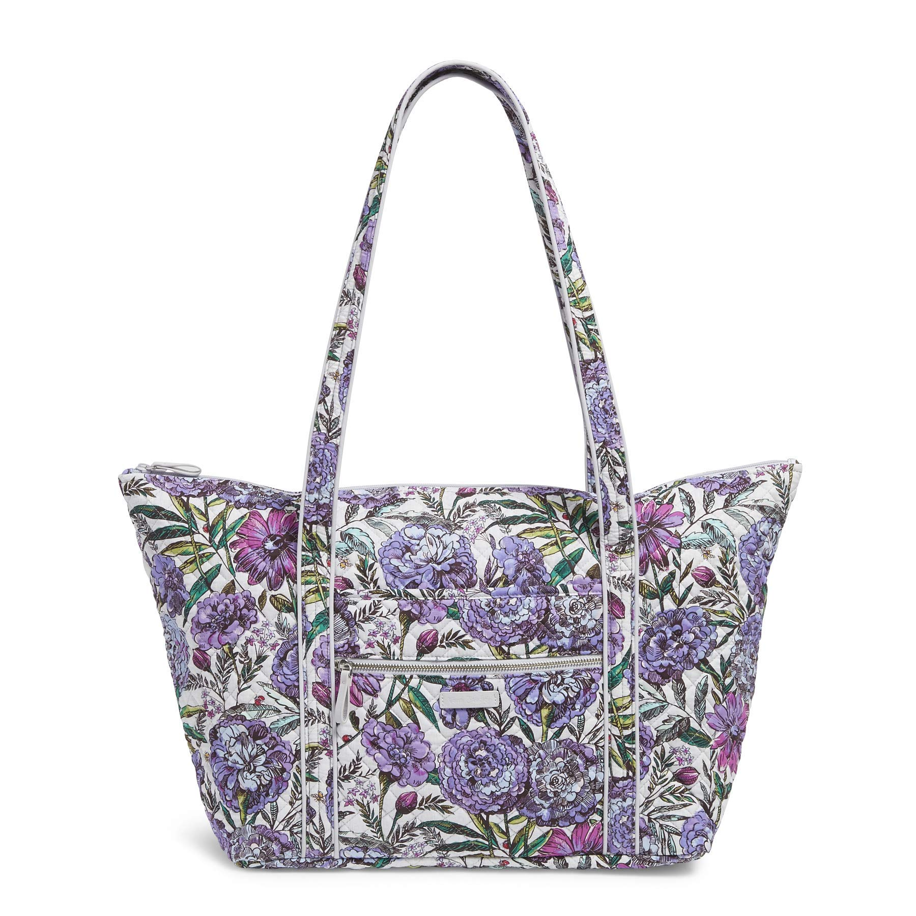 Vera Bradley Iconic Miller Travel Bag, Signature Cotton, Lavender Meadow