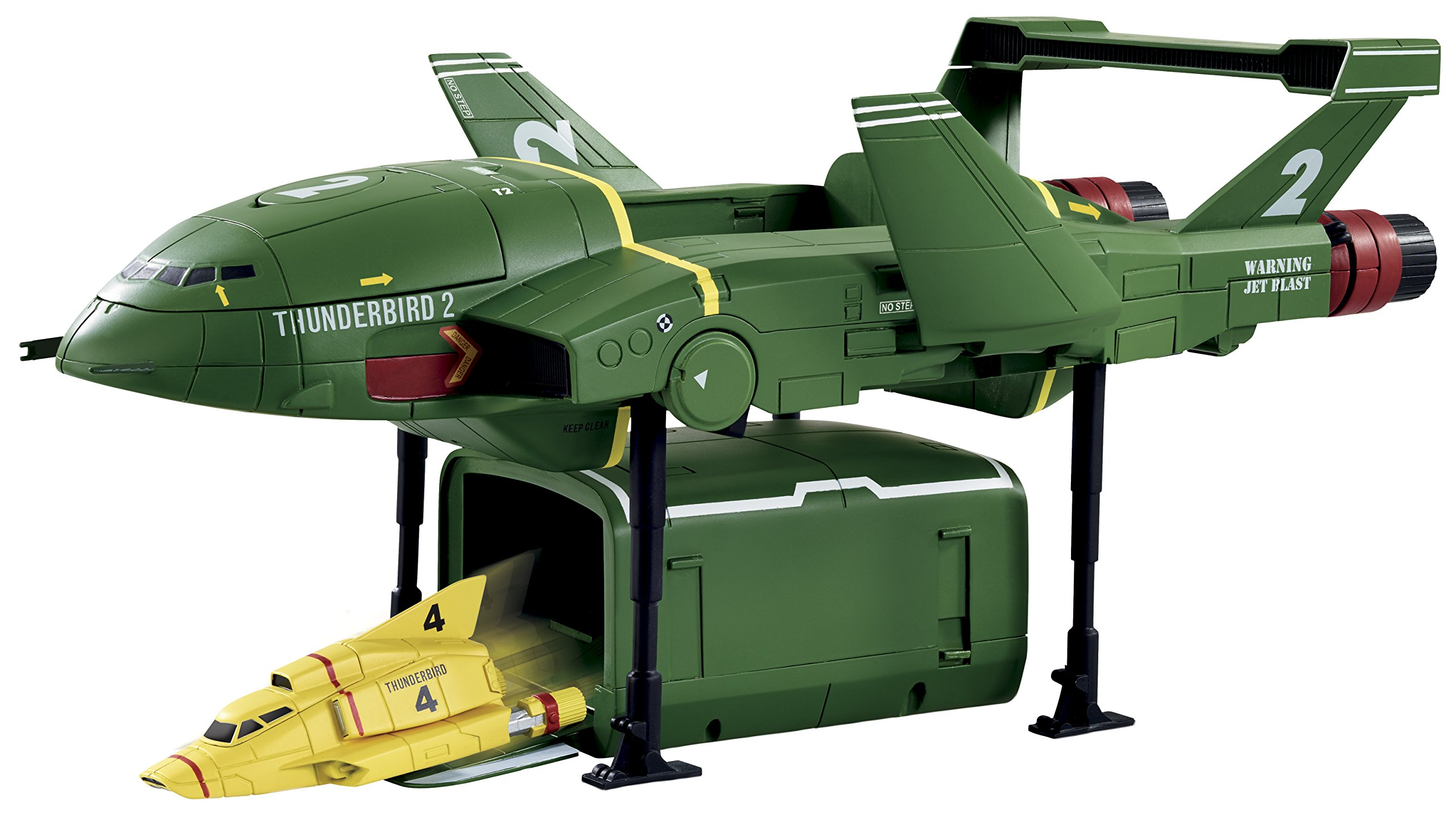Thunderbirds Supersize TB2 with TB4 Vehicle, Multicolored