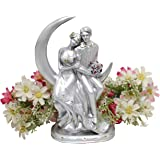 Avighna Romantic Moon Love Couple Showpiece Statue