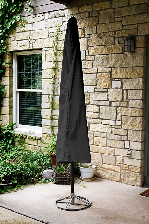 Black 76-Inch Height by 48-Inch Circumference KoverRoos Weathermax 74150 7-Feet to 9-Feet Umbrella Cover