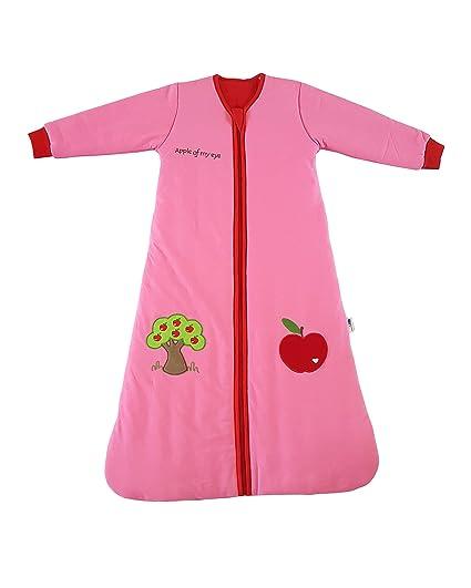 slumbersac Saco de dormir forrado con mangas largas 2.5 tog en color rosa para niña –