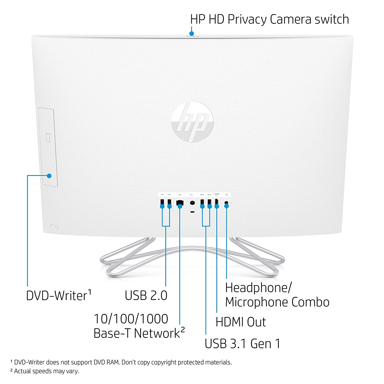HP 24-Inch All-in-One Touchscreen Computer, AMD Ryzen 5 3500U Processor, on