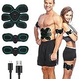 ieGeek Elettrostimolatore Muscolare, USB Ricaricabile Trainer Wireless Portatile,ABS Stimolatore Addome/Braccio/Gambe/Waist/Glutei Massaggi-Attrezzi Uomo/Donna