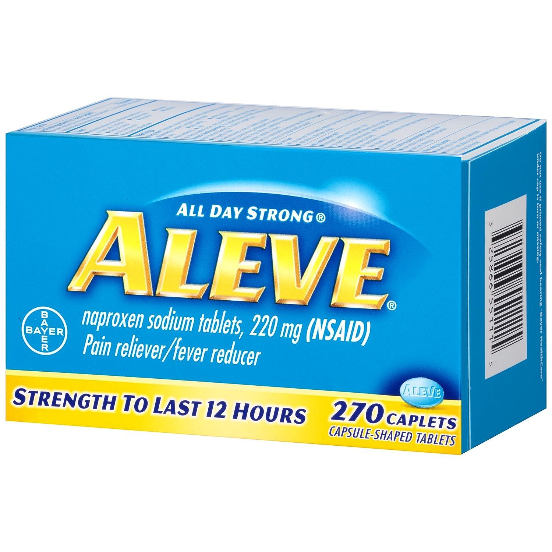 Amazoncom Aleve Caplets Naproxen Sodium 220 Mg Nsaid Pain