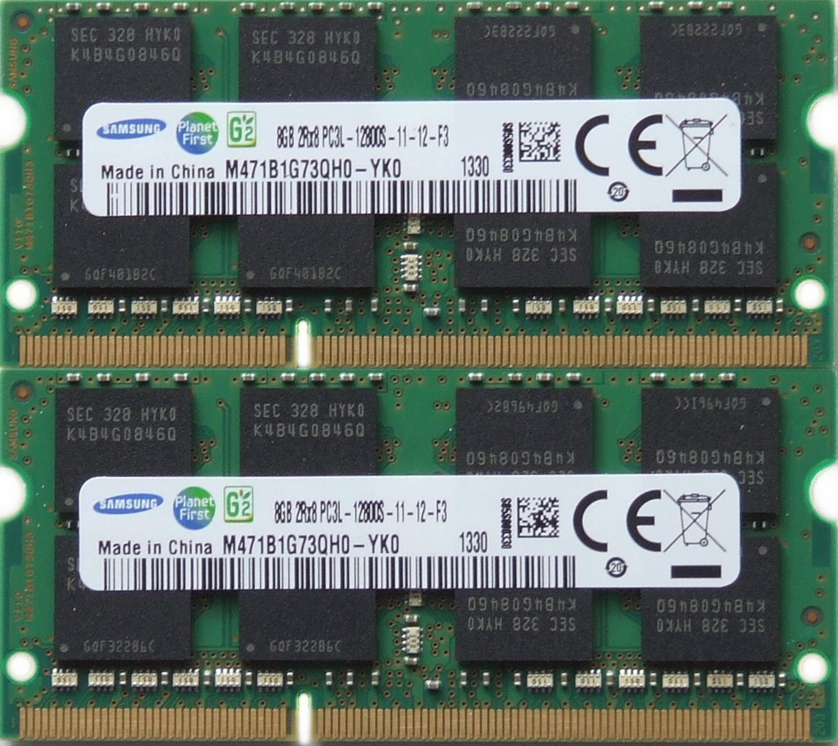 Samsung ram memory upgrade DDR3 PC3 12800, 1600MHz, 204 PIN, SODIMM for 2012 Apple Macbook Pro's, 2012 iMac's, and 2011 / 2012 Mac mini's (16GB kit ( 2 x 8GB ))