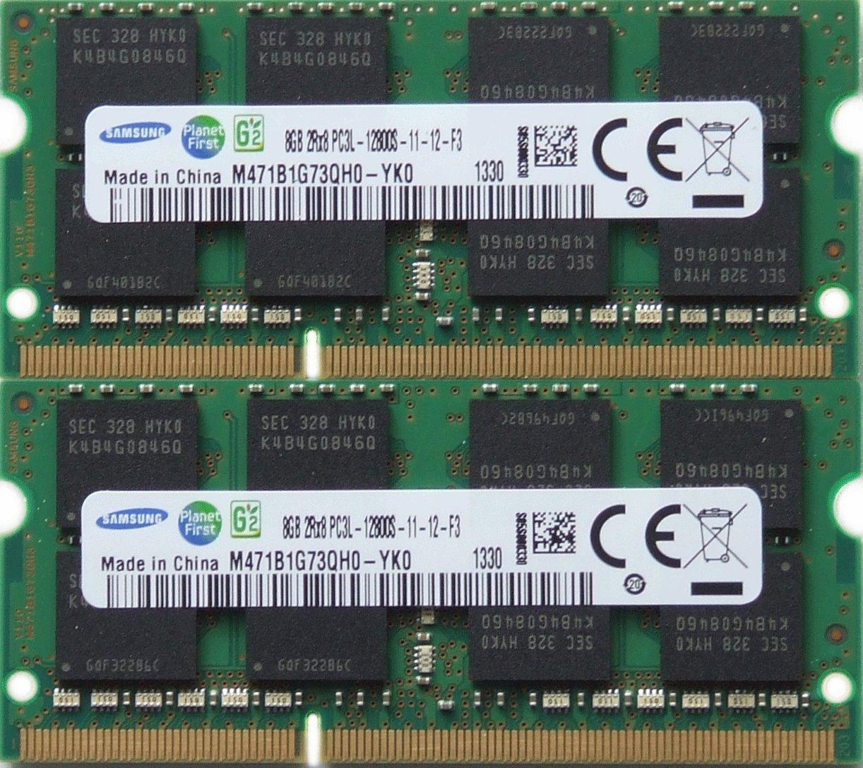 Samsung ram memory upgrade DDR3 PC3 12800, 1600MHz, 204 PIN, SODIMM for 2012 Apple Macbook Pro's, 2012 iMac's, and 2011 / 2012 Mac mini's (16GB kit ( 2 x 8GB ))