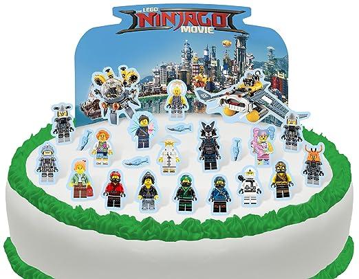 Cakeshop Pre-CUT Lego Ninjago - Escena comestible para ...