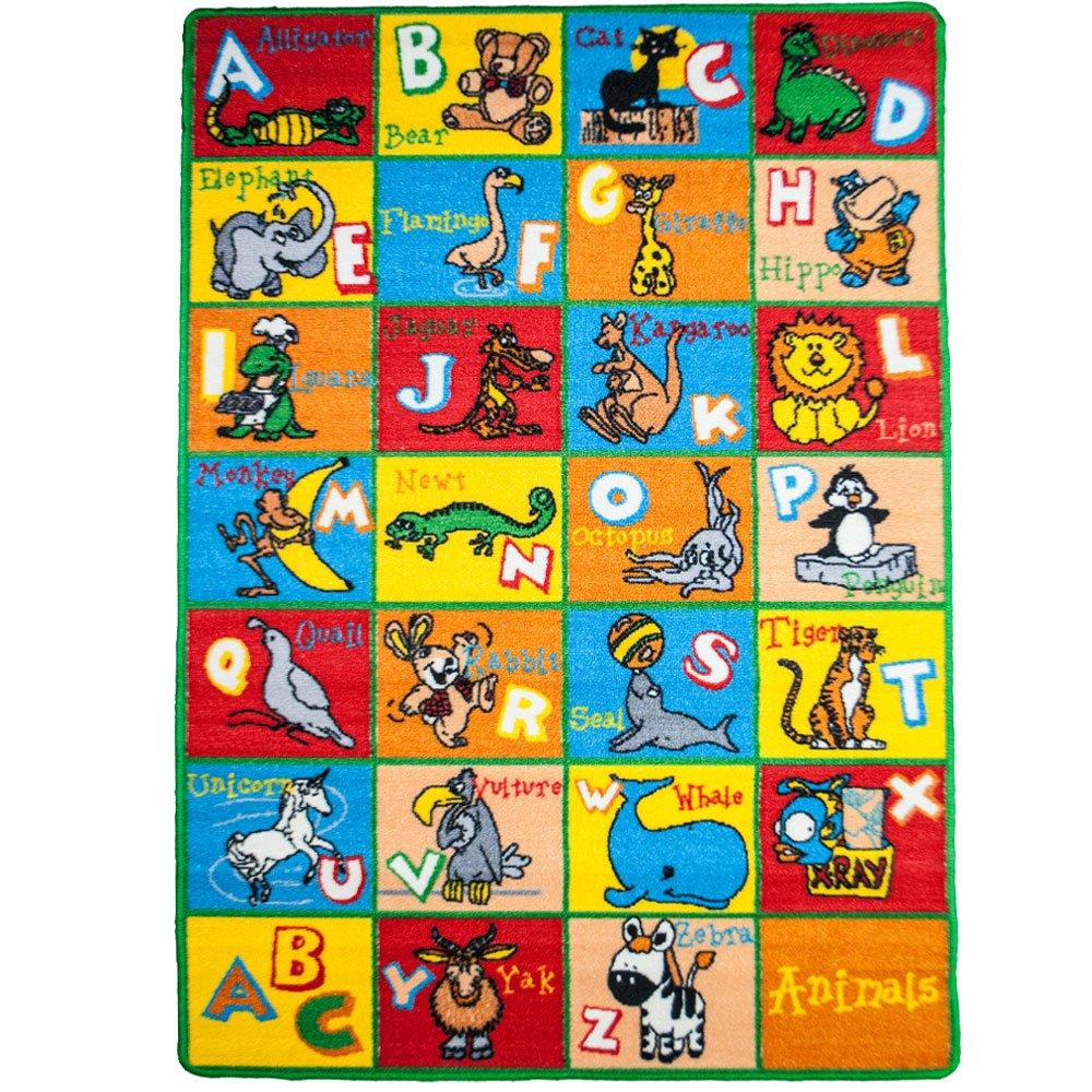 Image of: Children Abc Amazoncom Mybecca Kids Rug Alphabet Animals 3 5 Children Abc Area Rug For Playroom Nursery Non Skid Gel Backing 39 Istock Amazoncom Mybecca Kids Rug Alphabet Animals 3 5 Children Abc