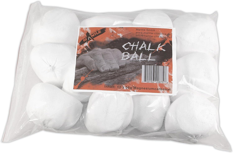 Mantle Chalk Ball 12 Stück - Magnesio de Escalada, Talla 56 g