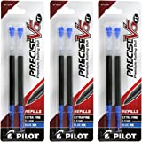 Pilot Precise V5 RT Liquid Ink Retractable Rollerball Pen Refills, 0.5mm, Extra Fine Point, Blue Ink, Pack of 6