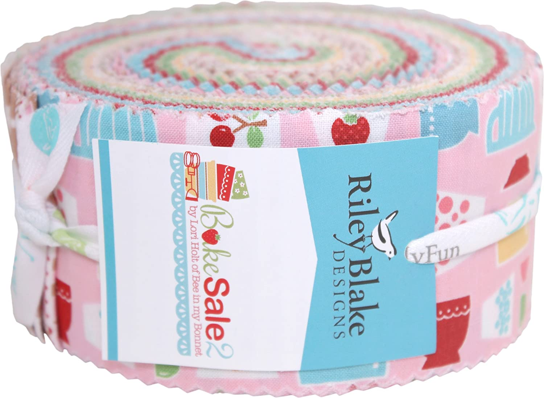 Riley Blake Precut Fabric Garden Party Rolie Polie 2.5 Strips 40pcs.
