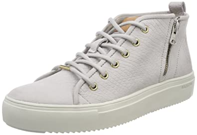 Blackstone Damen PL88 Hohe Sneaker, Grau (Wind Chime), 39 EU