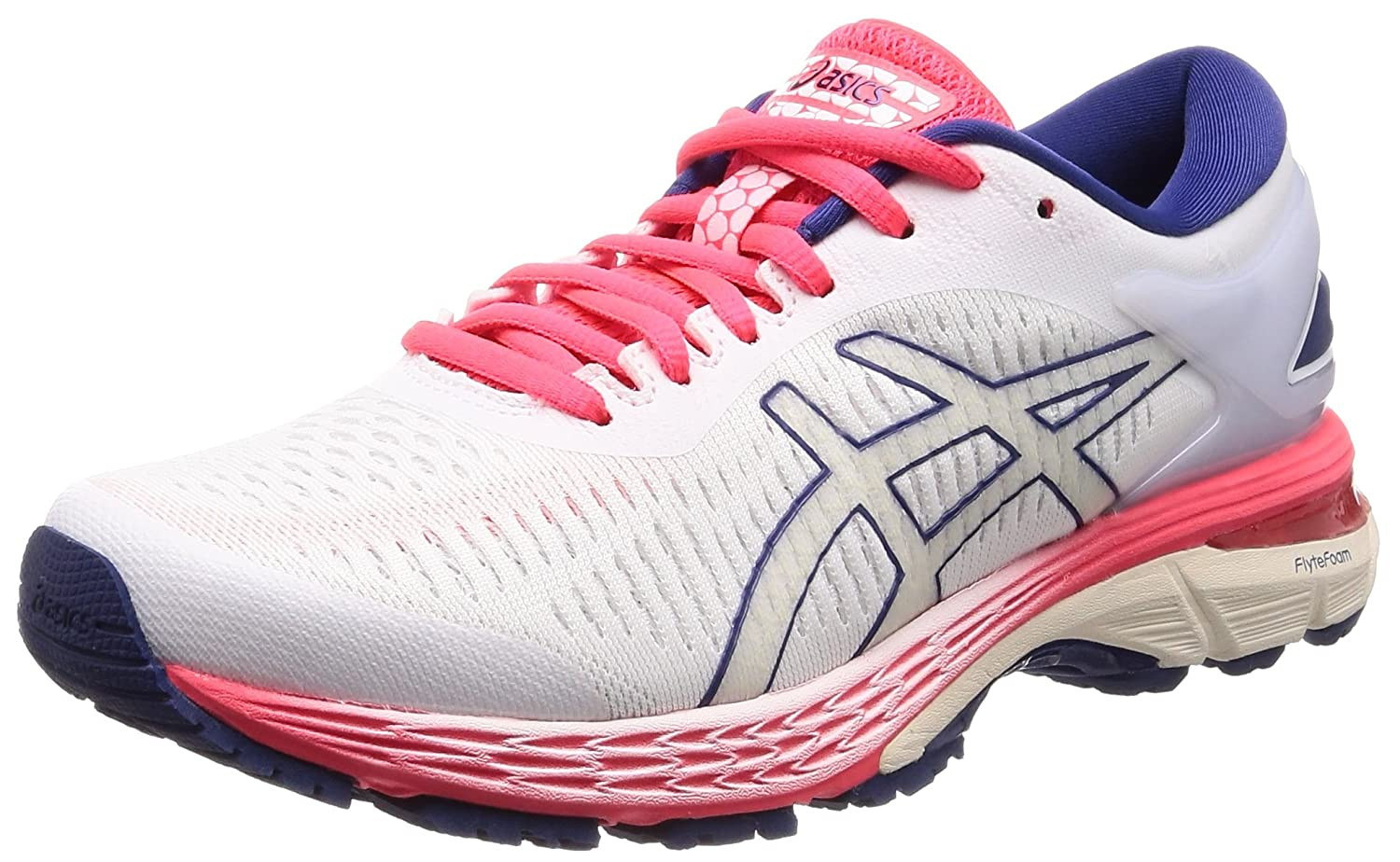 f3330d4564fc Amazon.com: Asics Gel-Kayano 25 D [1012A032-100] Women Running Shoes  White/Pink-Blue: Health & Personal Care