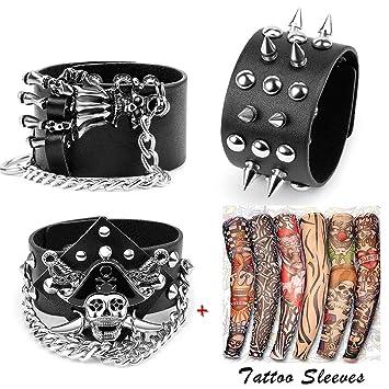 Amazon.com: Yariew - 6 mangas de tatuaje temporales, juego ...