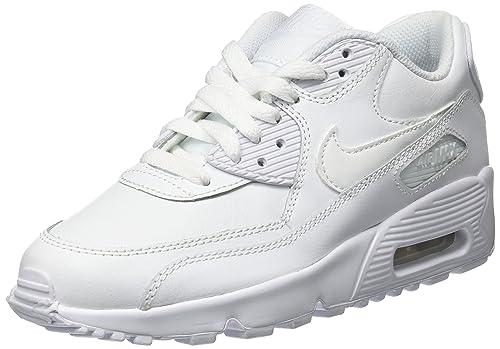 Nike Air MAX 90 Leather (GS), Zapatillas Unisex Niños
