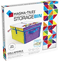 Magna Tiles Storage Bin & Interactive Play-Mat, Collapsible Storage Bin with Handles for Playroom, Closet, Bedroom, Home…
