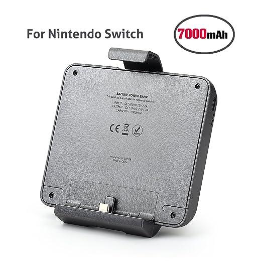Batería Externa para Nintendo Switch, batería del interruptor de Nintendo de Chinsion 7000mAh batería de