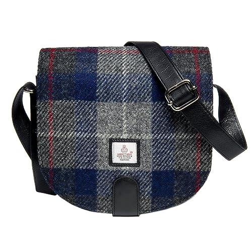 4ef80e6a6ad3 Genuine Harris Tweed Cloudberry Ladies Small Cross Body Bag (Blue Check)
