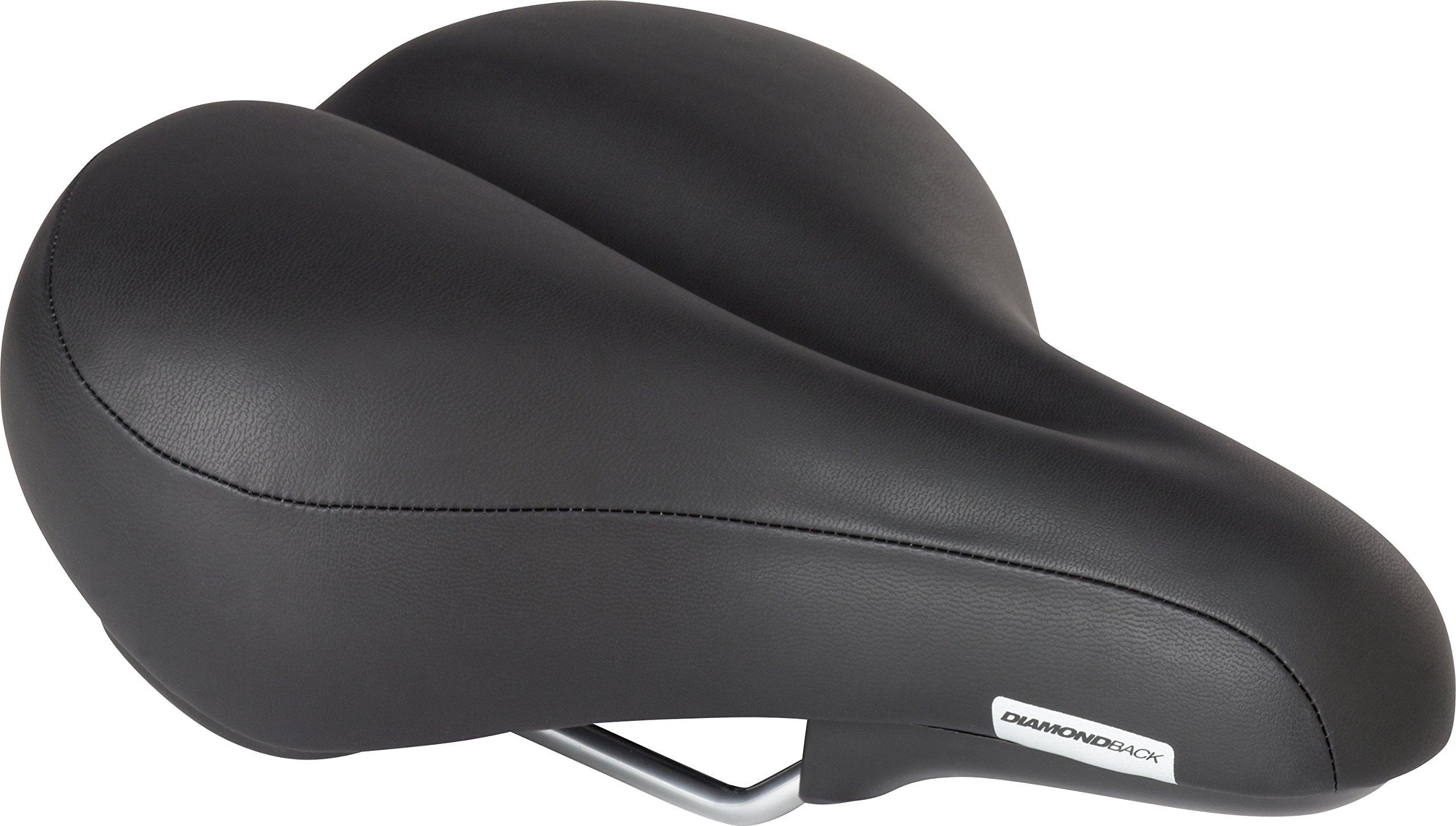 Diamondback Men's Pillow Top Bicycle Saddle, Black by Diamondback