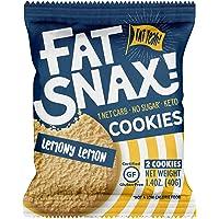 Fat Snax Cookies - Low Carb, Keto, and Sugar Free (Lemony Lemon, 6-Pack (12 Cookies))