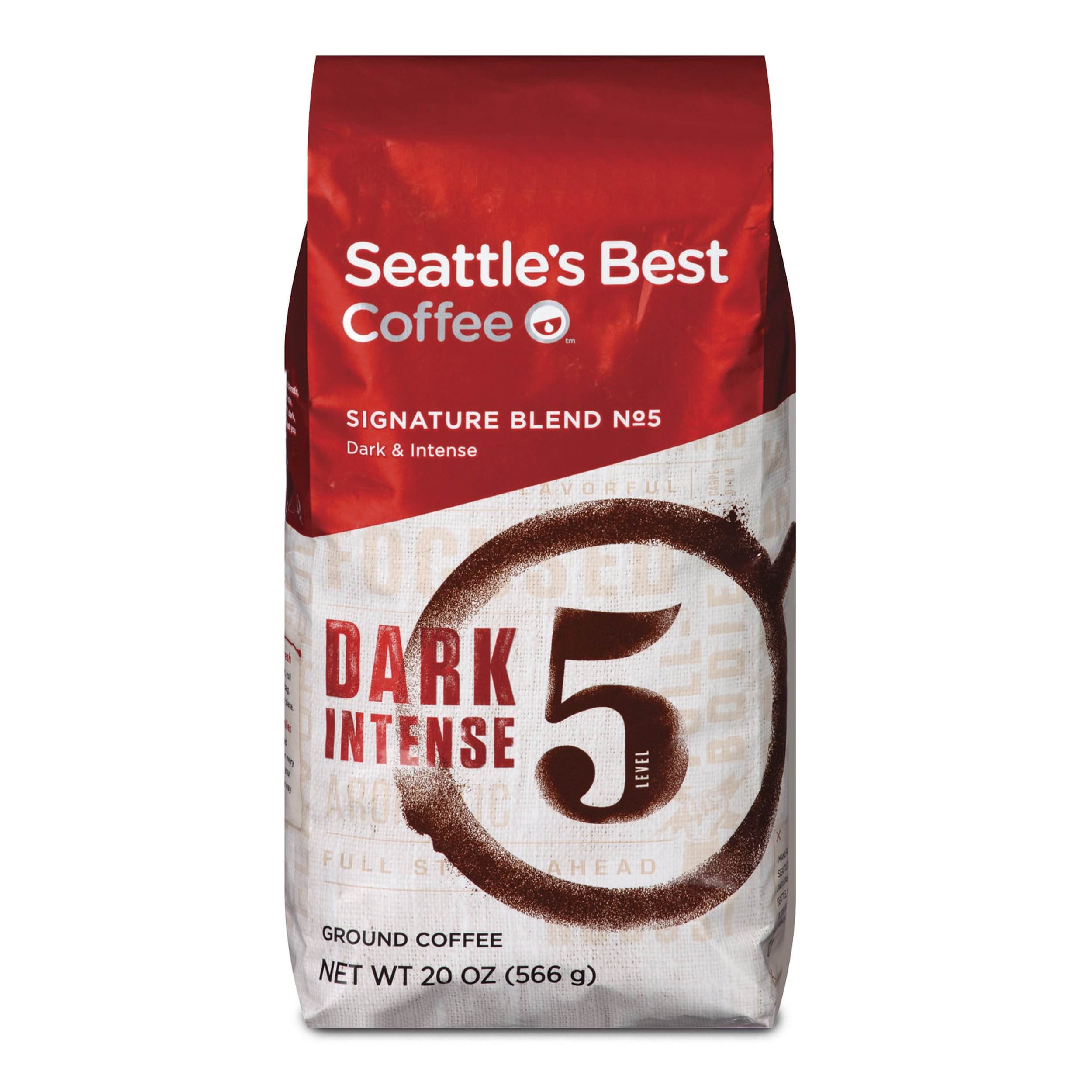 Seattle's Best Coffee Post Alley Blend (Previously Signature Blend No. 5) Dark Roast Ground Coffee, 20-Ounce Bag (Pack of 6)