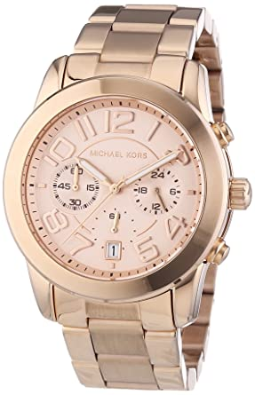 d9a6db9c22b7 Image Unavailable. Image not available for. Color  Michael Kors MK5727  Women s Mercer Rose Gold-Tone Stainless Steel Bracelet Chronograph Watch