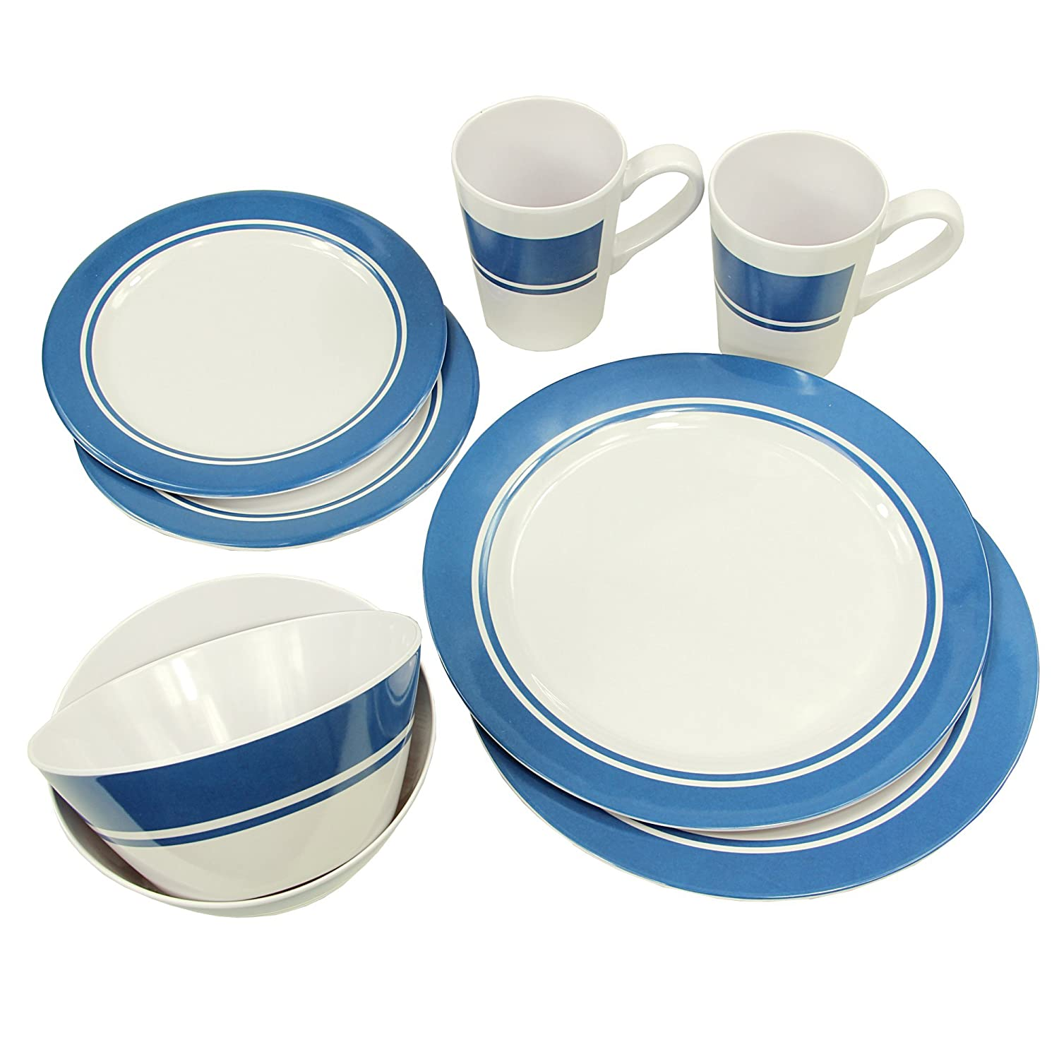 Fridani MDD 8-pieceMelamine tableware for 2 persons camping tableware for outdoor picnic/garden camping, 2 x cup 350 ml, 2 x plate Ø 25 cm, 2 x plate Ø 20 cm, 2 x bowl 650 ml. FRIJQ|#FRIDANI 4260371525823