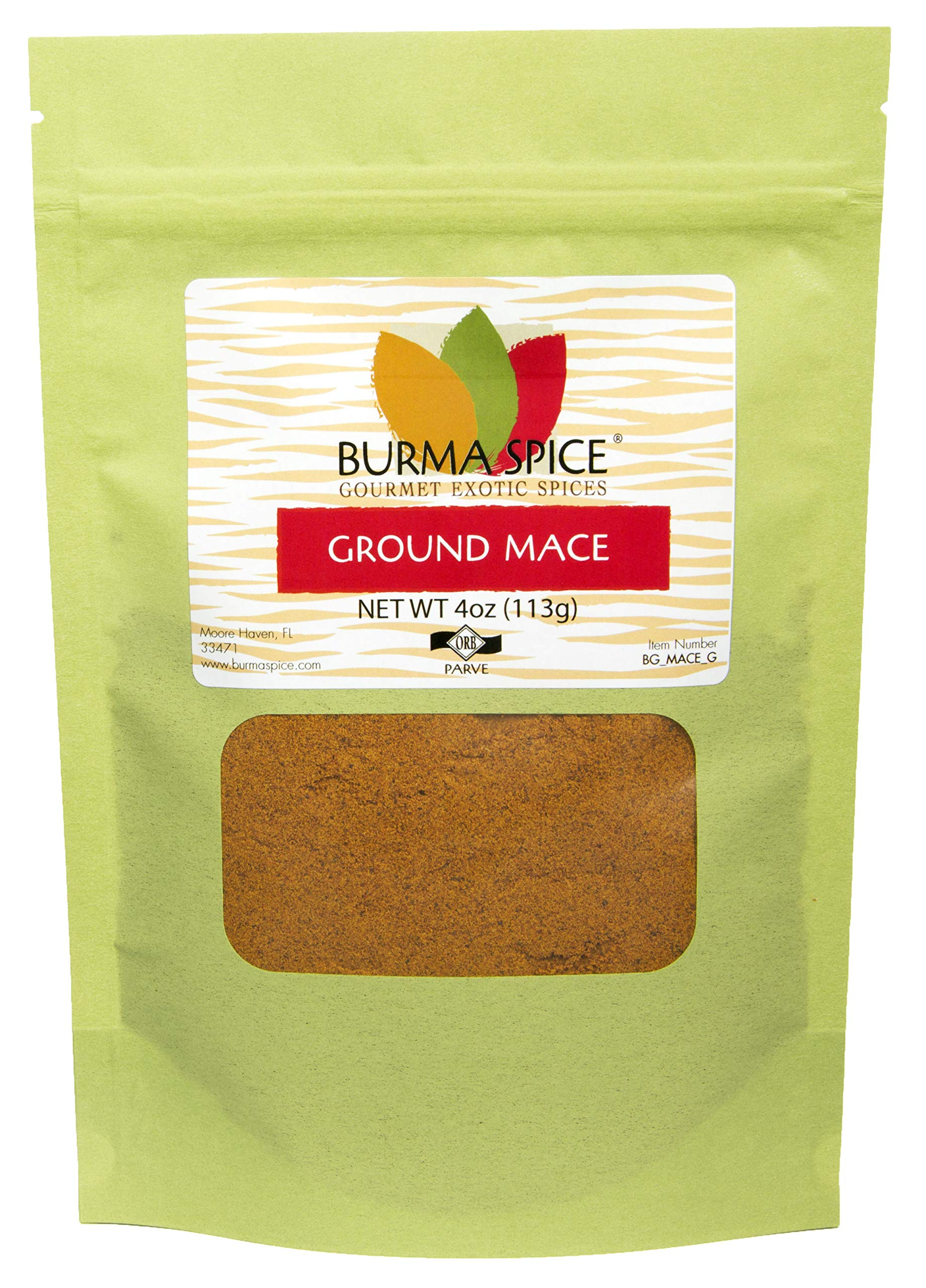 Ground Mace (Javathri) Natural Aromatic Pure Loose Herb Spice (4 oz.)