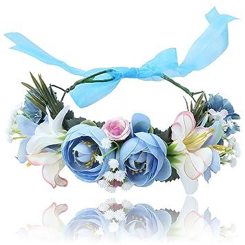 Amazon.com: Corona de flores de flores Tocado – awaytr ...
