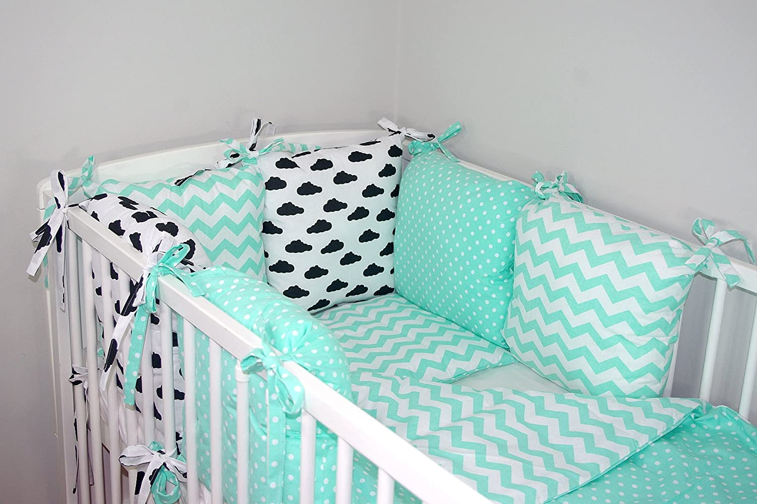 NEW 8 PCS BABY BEDDING SET FOR COT / COTBED with PILLOW BUMPER (24 NEWEST DESIGNS) (11a) Baby' s Comfort