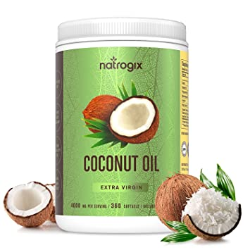 Virgin Coconut Oil Capsules 4000mg / Serving (360 Softgels) by Natrogix -  Highest Potency MCT Oil