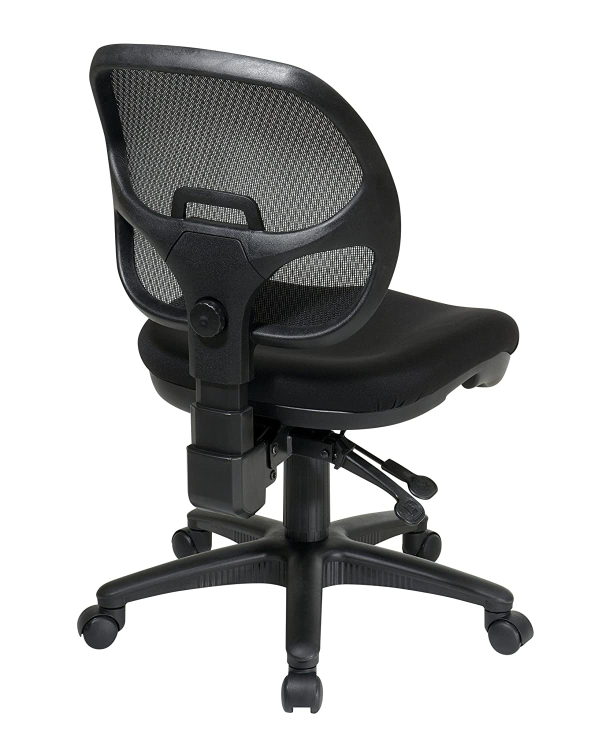 Amazon com  Office Star Breathable ProGrid Back and Padded Seat  Armless  Ergonomic Task Chair  Black  Kitchen   DiningAmazon com  Office Star Breathable ProGrid Back and Padded Seat  . Office Star Ergonomic Chair. Home Design Ideas
