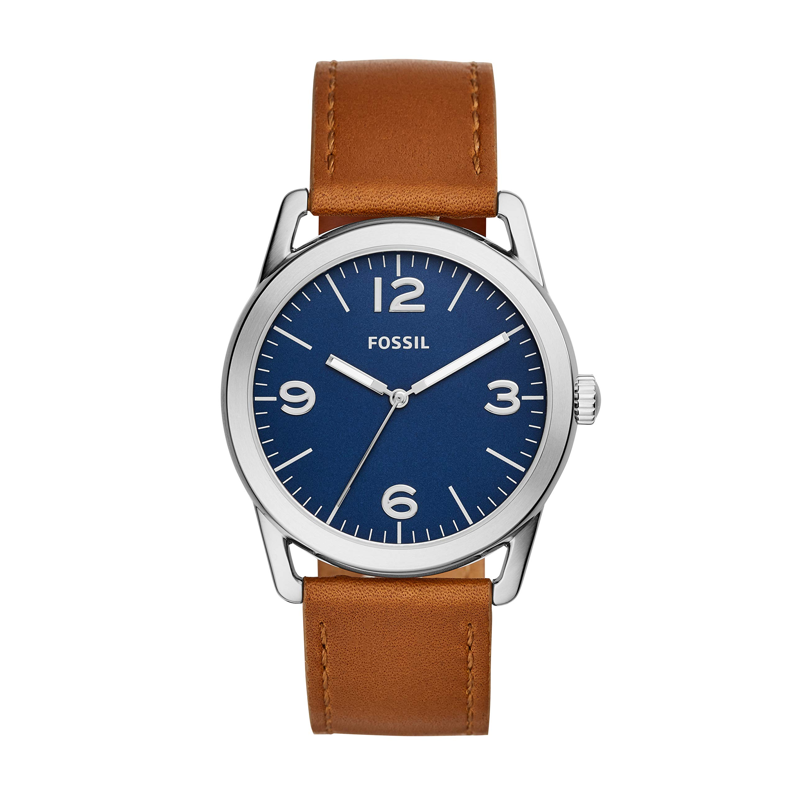 Fossil Men's 'Ledger' Quartz Stainless Steel and Leather Watch, Color:Brown (Model: BQ2304) by Fossil
