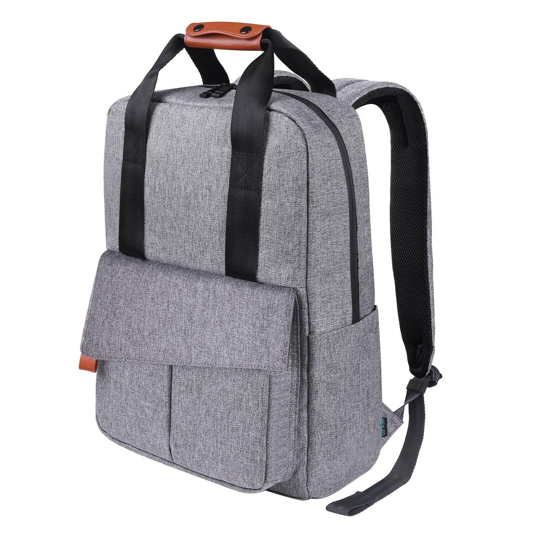 Business Rucksack, REYLEO Reise Laptop Backpack für Büro und Uni 15.6 Zoll Laptop Tasche Männer und Frauen Wasserabweisend Grau-24 Liter RB23