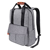 REYLEO Business Laptop Backpack 15.6 Anti-Theft Notebook Rucksack Casual Daypack with Leather Handle for Women Men - Light Grey (RB23)