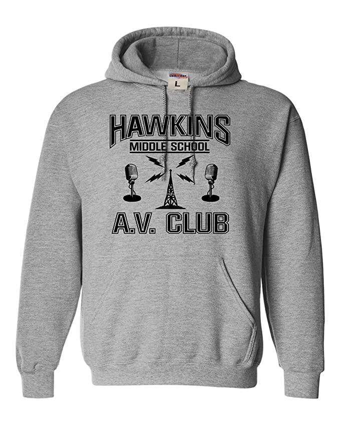 Adult Hawkins Middle School AV Club Sweatshirt Hoodie