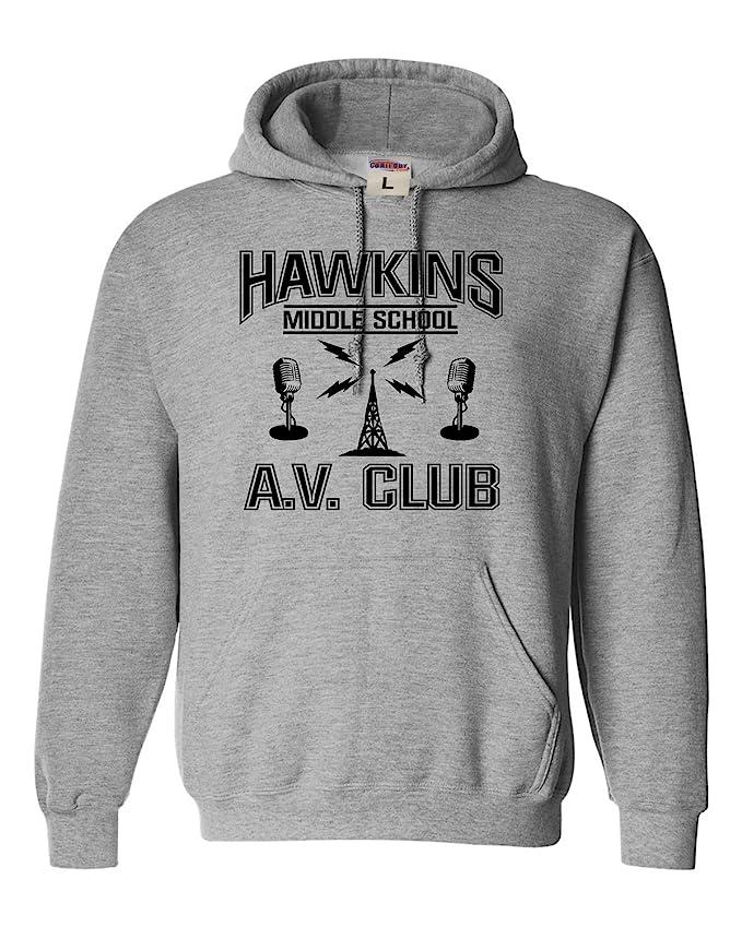 Adult Hawkins Middle School AV Club Sweatshirt Hoodie