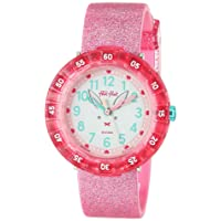 Kids Garden Adventure Swiss Quartz Silicone Strap, Pink, 16 Casual Watch (Model: ZFCSP095)