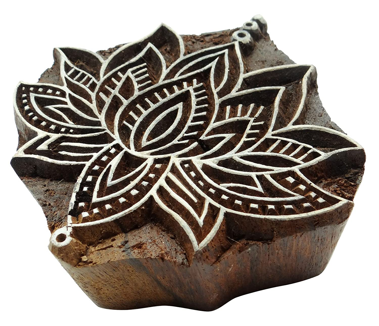 Amazon Com Lotus Pattern Wooden Hand Block Printing Te X Tile