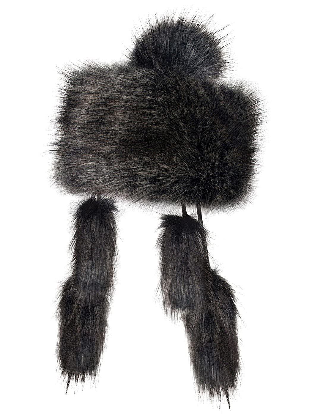 Futrzane Mongolian Faux Fox Fur Winter Hat for Women Russian Ski Futrzane-mongolka-2