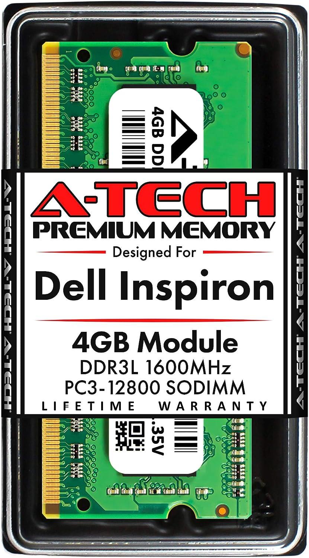 5448 A-Tech 4GB RAM for DELL INSPIRON 14 DDR3 1600MHz SODIMM PC3-12800 204-Pin Non-ECC Memory Upgrade Module