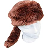 Home Collection Teen/Adult Faux Fur Beaver Animal Hat Cap, Large, Brown, Lined