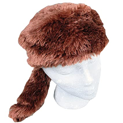5d96d2201 Amazon.com: Teen/Adult Faux Fur Beaver Animal Hat Cap, Large, Brown ...