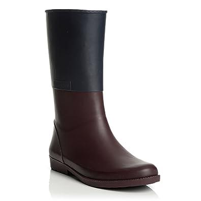 24d026389a4 Amazon.com   Henry Ferrera Women's Colorblocked Rubber Rain Boots ...