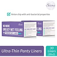 Sirona Ultra Thin Premium Regular Panty Liners - 60 Pieces (2 Pack - 30 Pieces Each)