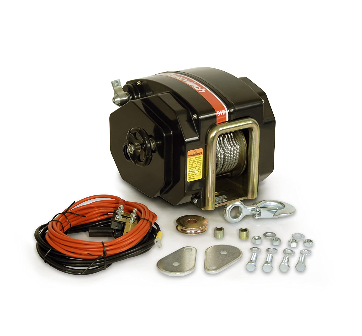 "Amazon.com : Powerwinch 912 Trailer Winch (40' x 7/32"" cable) : Boat  Trailer Winches And Accessories : Sports & Outdoors"