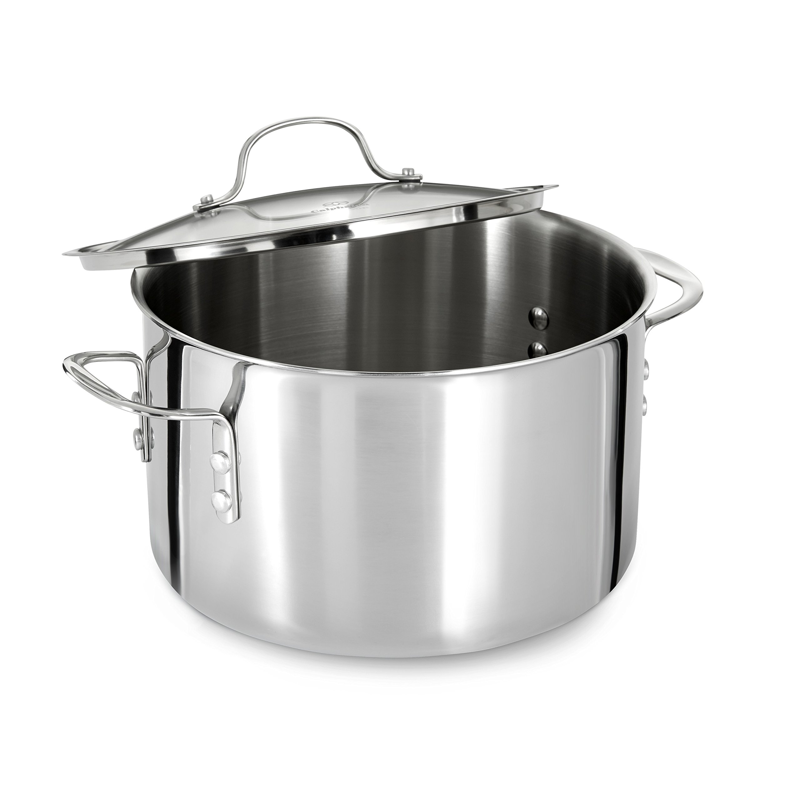 Calphalon (1767727) Tri-Ply Stainless Steel 8-Quart Stock Pot with Cover by Calphalon (Image #3)