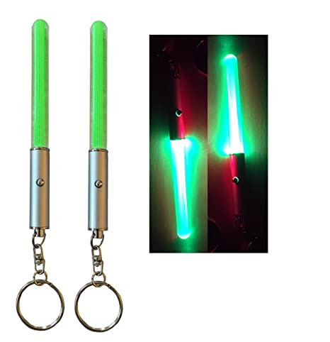 2 pieza Espada de luz verde Espada láser llavero Espada de ...